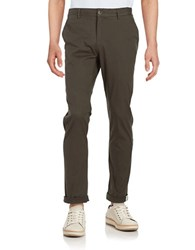 Ben Sherman Slim Fit Stretch Chino Pants Dark Forest