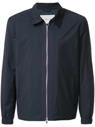 Cerruti 1881 Zip Front Lightweight Jacket Blue
