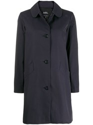 A.P.C. Button Up Coat Blue