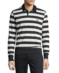 Ovadia And Sons Striped Cotton Rugby Shirt Cream