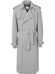 Burberry The Westminster Jersey Trench Coat Grey