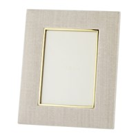 Aerin Valentina Velvet Photo Frame London Fog 5X7 Neutral