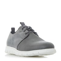 Dune Bolt Contrast Panel Wedge Shoe Grey