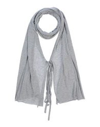 Pinko Black Oblong Scarves Light Grey