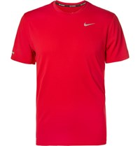 Nike Running Contour Dri Fit T Hirt Red
