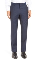Boss Men's 'Genesis' Flat Front Plaid Wool Trousers