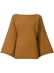 Sonia Rykiel Bell Longsleeves Knitted Blouse Nude And Neutrals