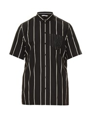 Givenchy Striped Short Sleeve Cotton Shirt