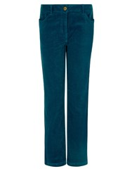 Dash Teal Cord Trouser Long Light Blue