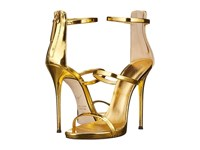 Giuseppe Zanotti Three Strap Sandal Gold Women's Dress Sandals