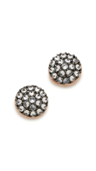 Katie Rowland Java Mini Stud Earrings Rose Gold Lavender