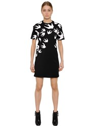 Mcq By Alexander Mcqueen Swallow Printed Cotton T Shirt Dress