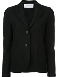 Harris Wharf London Curved Hem Buttoned Blazer Black