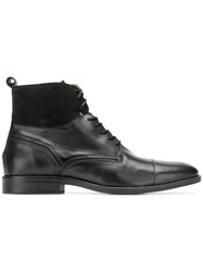 Tommy Hilfiger Panelled Lace Up Boots Black