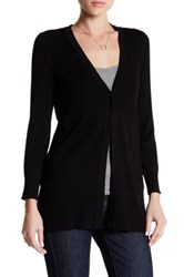 Cable And Gauge Rib Knit Cardigan Black