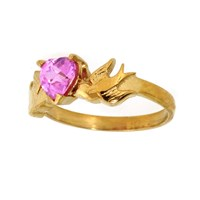 Metal Couture Strawberry Kiss Swallow Ring Gold