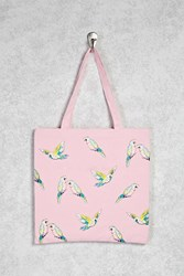 Forever 21 Parrot Graphic Tote Bag Pink Multi