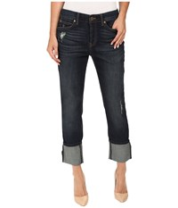 Level 99 Morgan Cuffed Straight In Port Port Women's Jeans Burgundy