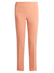Rochas Slim Fit Stretch Cady Trousers Light Pink