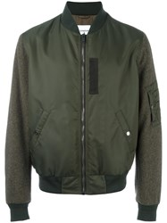 Dondup Classic Bomber Jacket Green