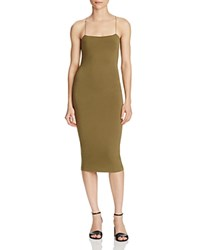 Alexander Wang T By Strappy Tank Dress Army Green