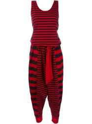 Y 3 Stripe Jumpsuit Red
