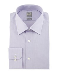 Ike Behar Micro Check Woven Dress Shirt Lavender Purple