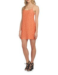 1.State Solid Racerback Shift Dress Coral Gem