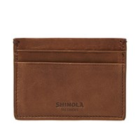 Shinola 5 Pocket Card Case Brown