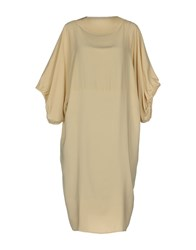 Laviniaturra Knee Length Dresses Beige