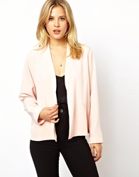 Asos Cropped Relaxed Blazer Nude