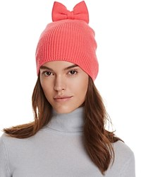 Kate Spade New York Knit Hat With Bow Costume Pink
