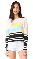 Wildfox Couture Harbour Sunset Sweater Multi