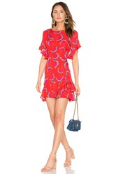 Tanya Taylor Lissy Dress Red