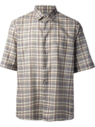Mauro Grifoni Plaid Shirt Nude And Neutrals