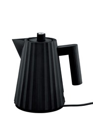 Alessi Plisse Small Electric Tea Kettle Black