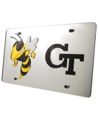Stockdale Georgia Tech Yellow Jackets Laser Tag License Plate Silver