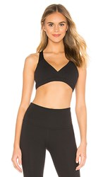 Beyond Yoga Mesh In Line Bra In Black.