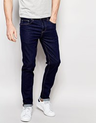 Asos Slim Jeans In 12.5 Oz Dark Blue Blue