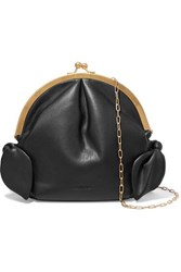 Nanushka Oana Knotted Vegan Leather Shoulder Bag Black
