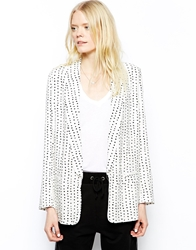 Just Female Dot Relaxed Blazer Cream
