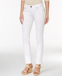 Kut From The Kloth Cameron Cuffed Straight Leg Jeans Optic White