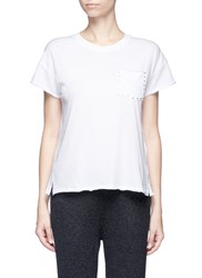 Rag And Bone 'Vintage Crew Studs' Cotton T Shirt White