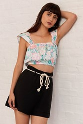 Urban Outfitters Uo Franklin Rope Belt Short Black