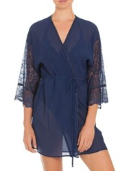 In Bloom Lace Mesh Wrap Navy