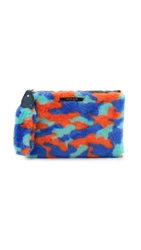 House Of Holland Handcuff Clutch Purple Yellow Camo