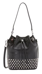 Michael Michael Kors Dottie Large Studded Bucket Bag Black