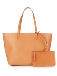 Mansur Gavriel Pink Lined Large Leather Tote Tan Multi