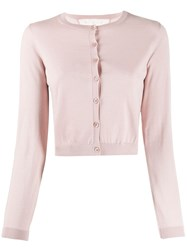Red Valentino Cropped Ribbed Crewneck Cardigan 60