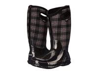 Bogs Classic Winter Plaid Tall Wide Calf Boot Black Multi Women's Rain Boots
